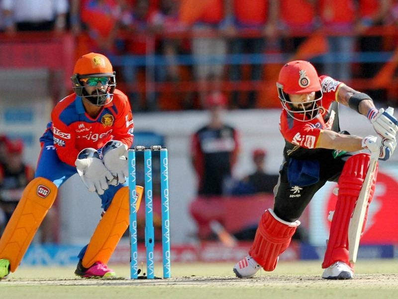 KL Rahul of Royal Challengers Bangalore in action during match 19 of the Vivo IPL 2016. (PTI Photo)