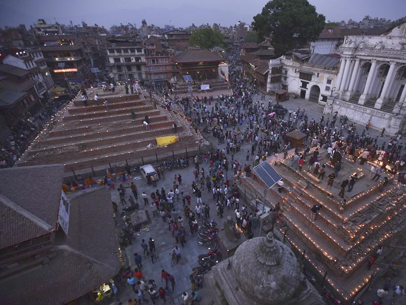 The earthquake damaged many iconic religious structures in Kathmandu.  (Raj K Raj/Hindustan Times)