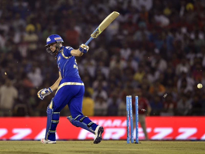 Jos Buttler gets out bowled. (Keshav Singh/HT Photo)