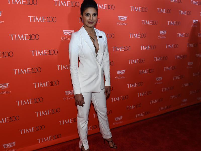 Priyanka slammed 2016 US Presidential candidate and fellow TIME 100 honoree Donald Trump's call for banning Muslim immigrants form the US. (AFP)