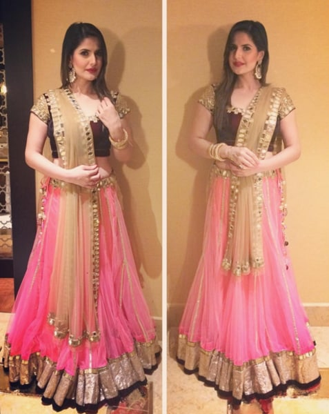 Zareen Khan looks pretty as a picture as she decks up for the friend's wedding.  (Instagram)