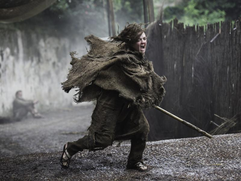 Arya training some more with the Waif we presume.  (HBO)