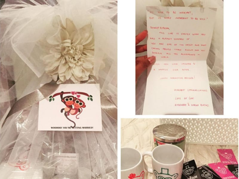 Not to forget that Bipasha and Karan's is the monkey wedding. Check out the gifts they received. (Instagram)