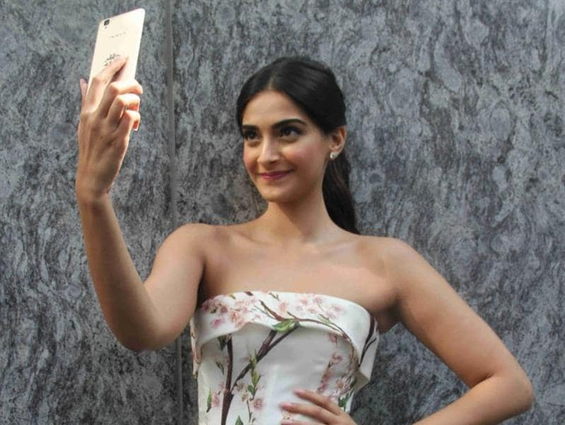 Sonam Kapoor during a press conference organised to announce launch of her mobile application. (IANS)