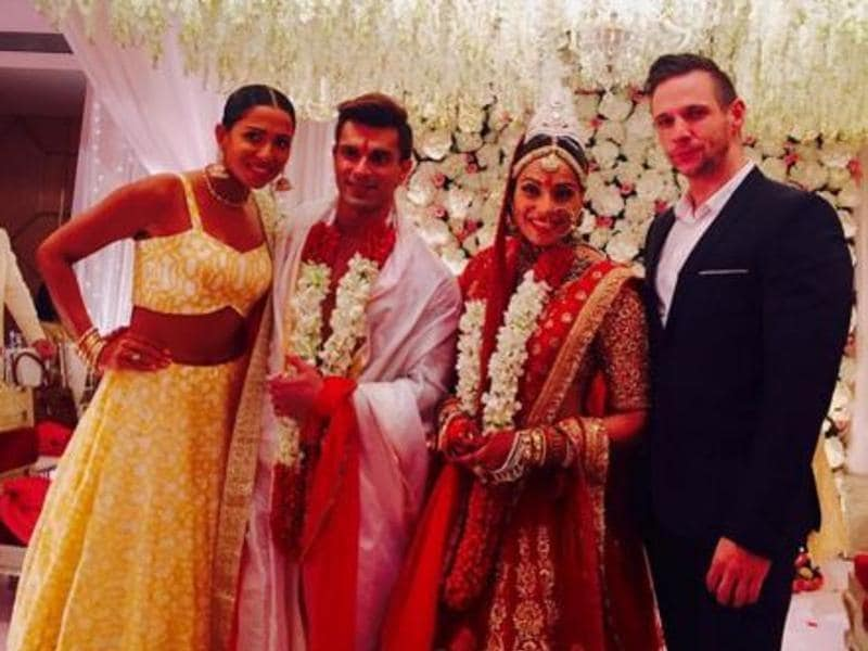 Bipasha's former boyfriend Dino Morea, model Candice Pinto were among guests at the wedding ceremony. (Instagram)
