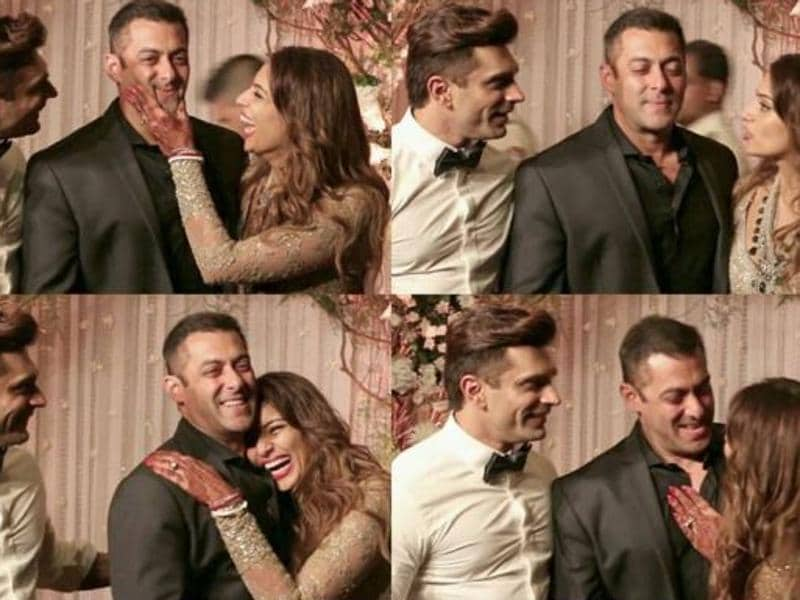 But the one mega star that got special attention from the newly-weds, Bipasha in particular, was none other than her No Entry co-star, Salman Khan. Too much proof right here. (Instagram)