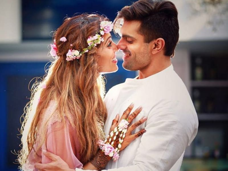 A radiant monkey bride, that's what Bipasha Basu was calling herself as she got ready to take the vows with beau, TV actor Karan Singh Grover. Checkout some amazing, intimate pictures from their mehendi and sangeet on Friday.  (Instagram)