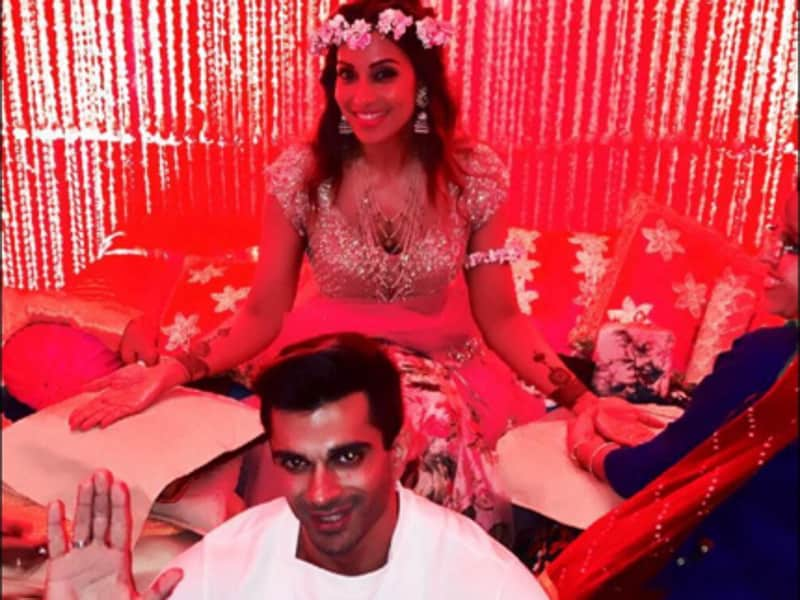 Zen-like calm a day before the wedding? You are killing us Karan Singh Grover and Bipasha. (Instagram)