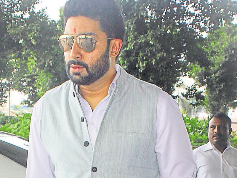 Abhishek Bachchan was spotted near his house in Mumbai. (Photo: Yogen Shah)