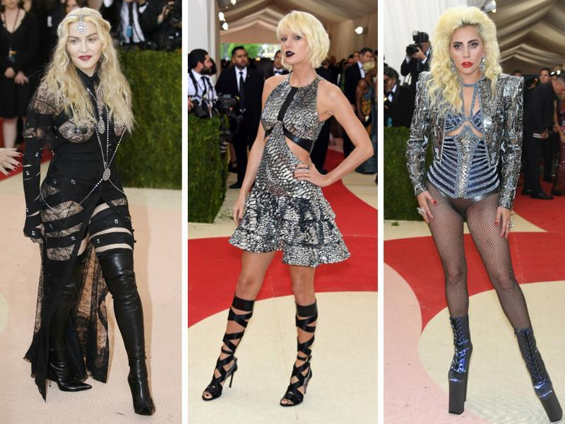 Cheeky Madonna, goth-looking Taylor Swift and a tech-inspired Lady Gaga, Met Gala 2016 saw celebs dressing in line with the technology theme. There was an abundance of black and metallics on the red carpet on Tuesday, and a few people in princess dresses who did not know there was a theme.