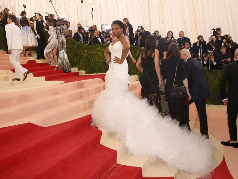 Actress Jennifer Hudson arrives at the Metropolitan Museum of Art Costume Institute Gala (Met Gala) to celebrate the opening of Manus x Machina: Fashion in an Age of Technology. (REUTERS)