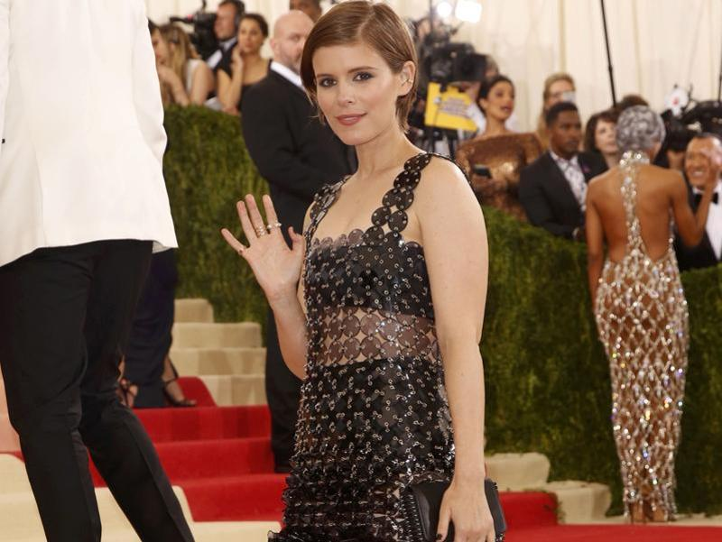 Talking of fuss-free, here is actress Kate Mara at the Met Gala. (REUTERS)