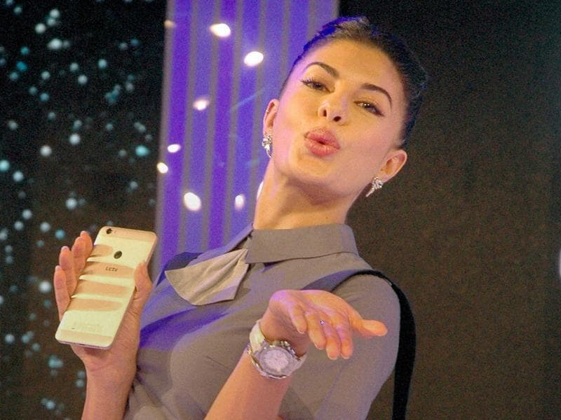 Bollywood actor Jacqueline Fernandez during a launch event in Mumbai on Tuesday. (PTI)