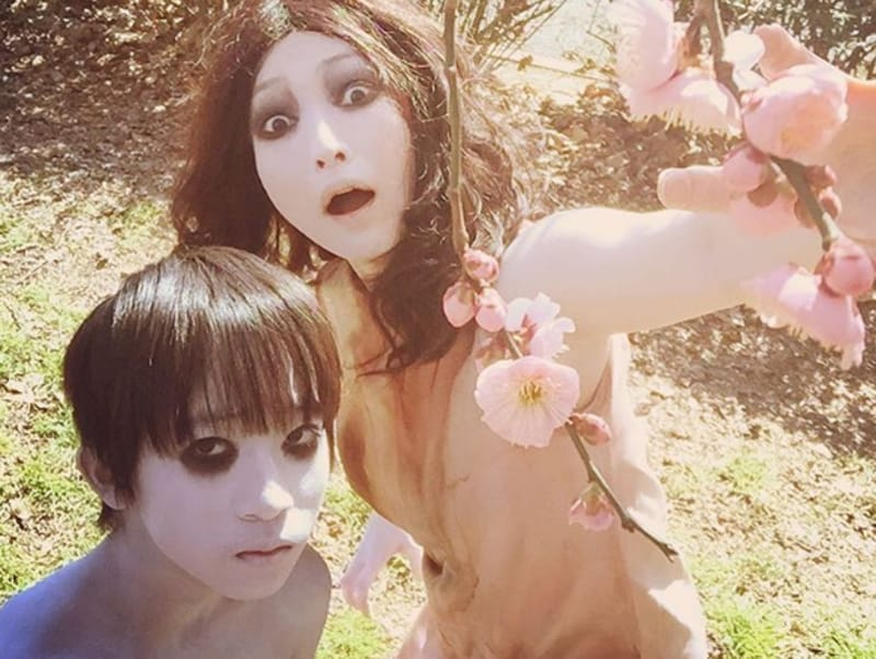 But these images of Kayako enjoying a quality 'life' with Toshiro are really helping boost her appeal. (Instagram)
