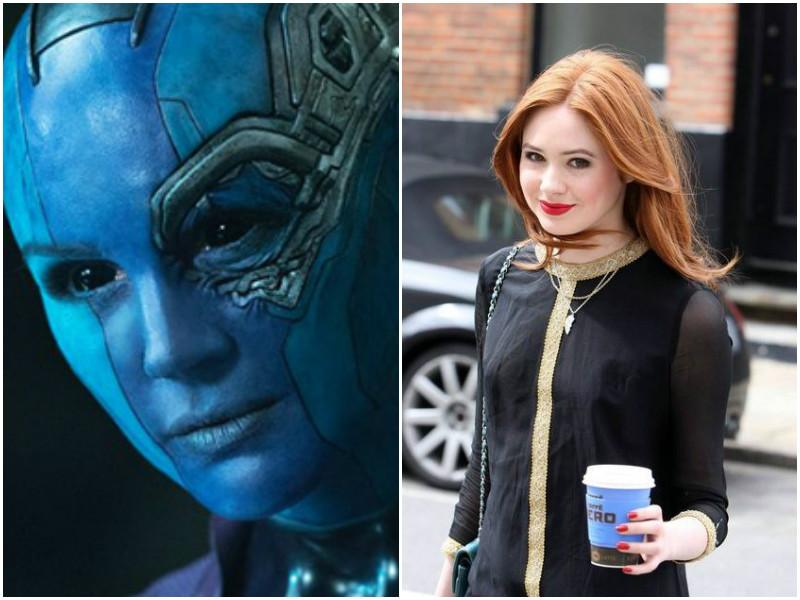 Karen Gillian played Saldana's 'sister' Nebula in the movie. She even shaved her head for the role.