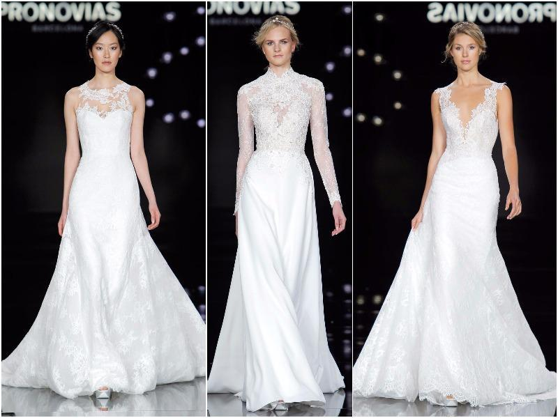This theme was channeled at the show with an impressive array of lighting effects, creating a magical, almost ethereal atmosphere, and setting the scene for a host of renowned models to take to the runway. (Pronovias)