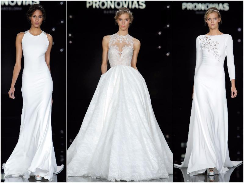 Why settle for traditional when you can pick a dress that will turn heads? Take a walk on the wild side with our most fave bridal gowns hot off the fashion runways. (Pronovias)