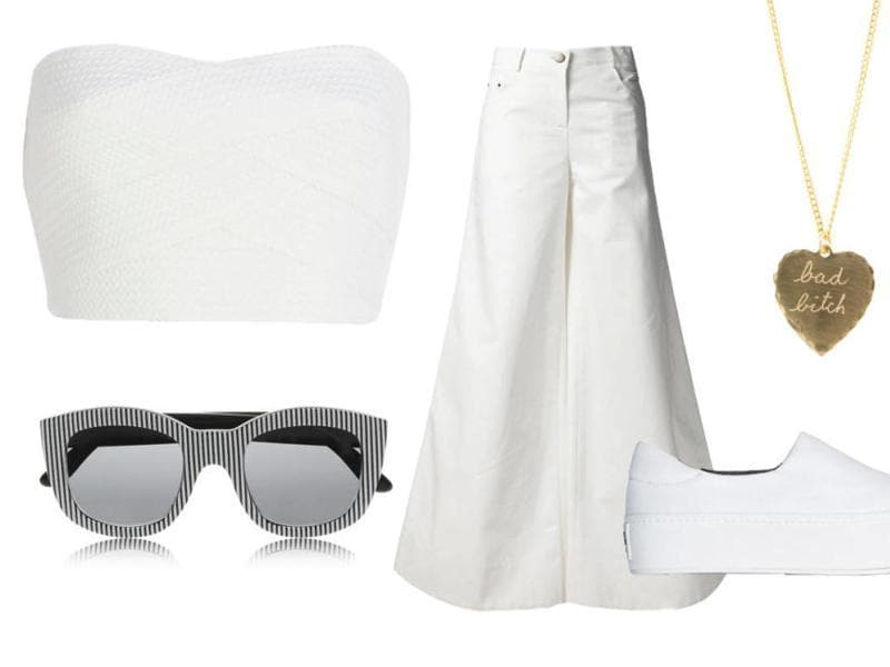 White pants: Nothing says summer like white pants! They're fresh, sporty, youthful, and they go with everything, (Pinterest)