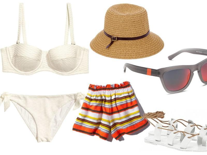 White swimwear: You are sure to turn heads with this summer's hottest swimwear.  Just throw on a hat and shades and let go! (Pinterest)