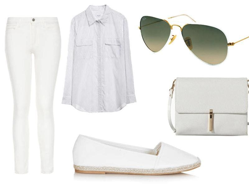 White jeans: Blue denim is forever, but white is a summer staple. The fear of spilling on white jeans is too real, but we promise these pants are worth it.  (Pinterest)