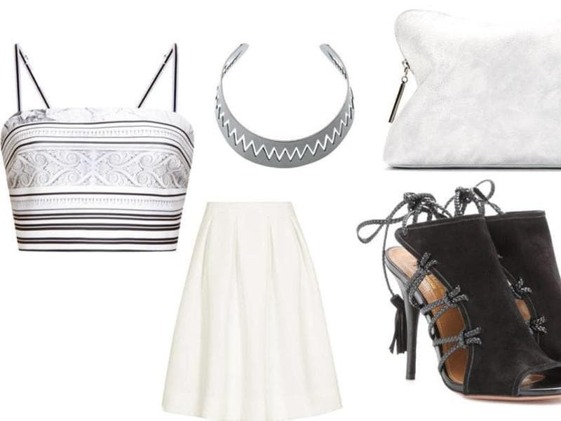 White skirt: Wondering how to pull off an all-white ensemble that's girly and flirty? A well-made white skirt is all you need.  (Pinterest)