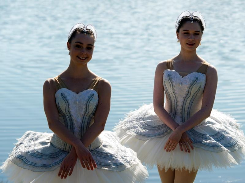 The dancers were on a 20-metre barge in Penrith Lakes in western Sydney. (AFP)