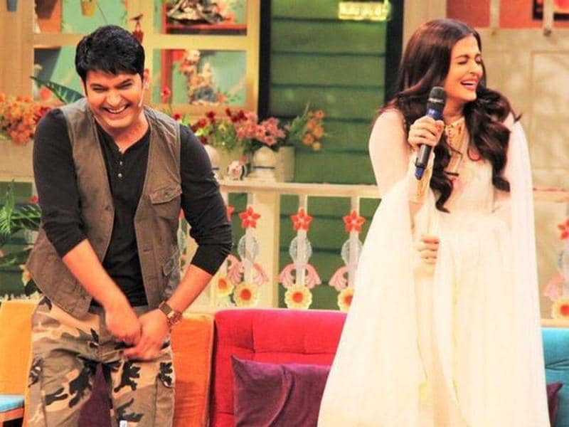 TV star Kapil Sharma is a big fan of Bollywood heroines and he makes sure they have a good time when they visit him. Aishwarya Rai Bachchan got a taste of his comedy when she visited the sets of The Kapil Sharma Show for promoting her upcoming film Sarbjit. (Twitter)