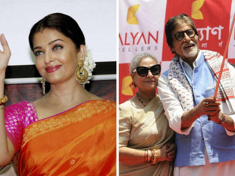 It was a hectic Sunday for the Bachchans as daughter-in-law  Aishwarya Rai Bachchan went promoting a film, while Jaya and Amitabh opened a store.  (AP/PTI)