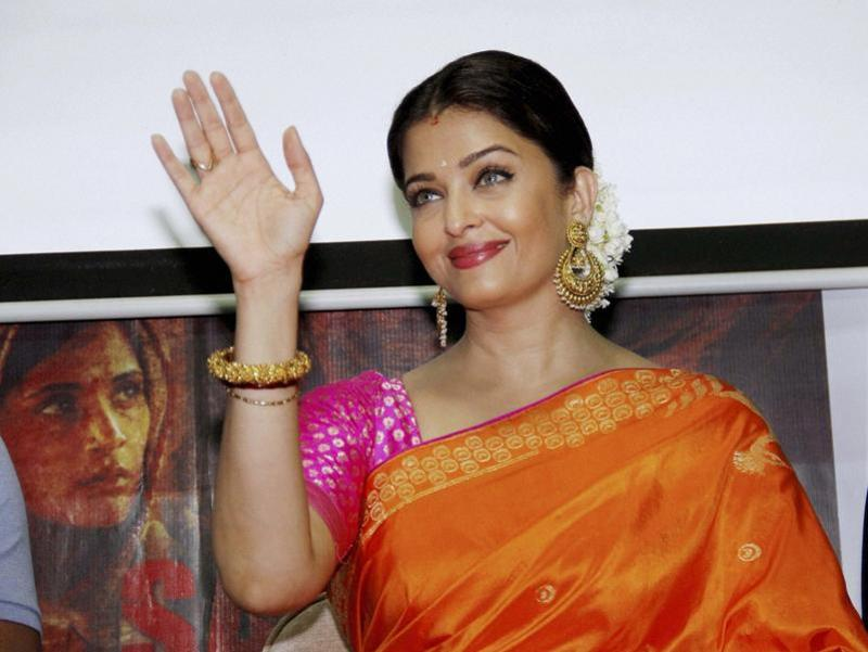 Bollywood actress Aishwarya Rai Bachchan attend a a press conference to promote the upcoming film Sarbjit in Ahmedabad on Sunday.  (PTI)