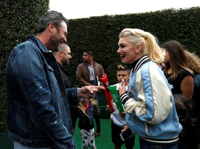 Blake and Gwen did have some good fun. (REUTERS)