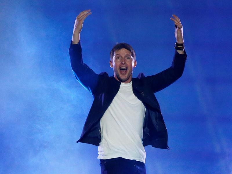 Singer James Blunt performs at the opening ceremony. (REUTERS)