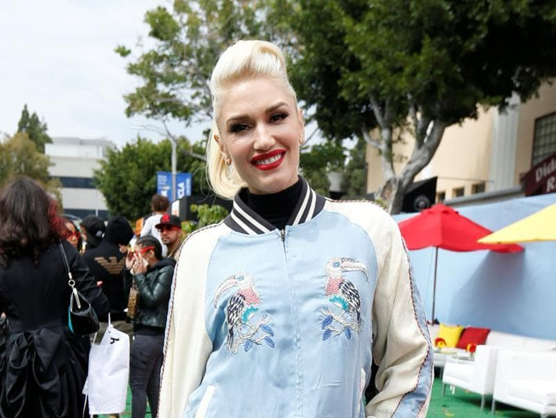 His girlfriend and singer Gwen Stefani was also at the party. (REUTERS)