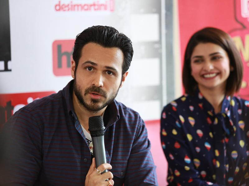 Emraan plays Azhar in the film with Prachi Desai essaying the role of his first wife. (Shivam Saxena/HT photo)