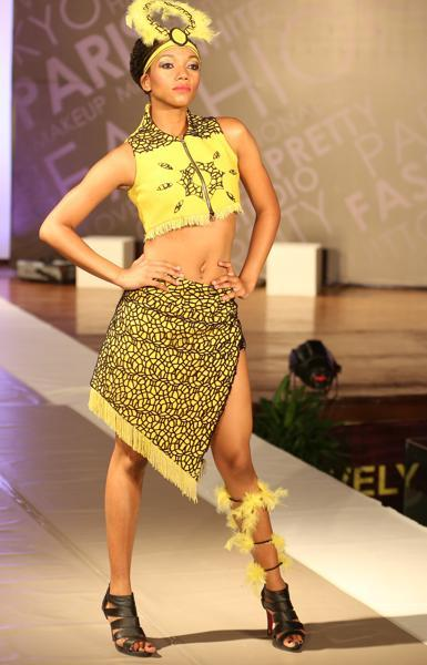 A student poses during the fashion show at LPU near Jalandhar. (Pardeep Pandit/HT Photo)