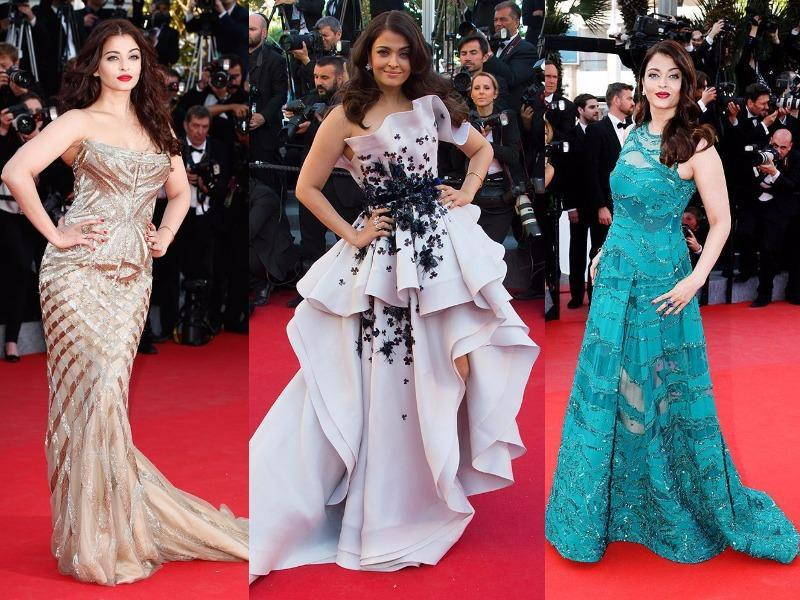 From Sabyasachi saris to that Roberto Cavalli gown: Aishwarya's red carpet ensembles have been the topic of conversation, good and bad. (Agencies)