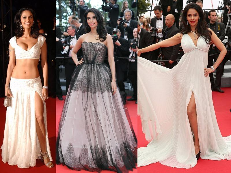 Mallika Sherawat has been attending the Cannes Film Festival for quite a while now. But she never bores with her bold fashion choices.  (Agencies)
