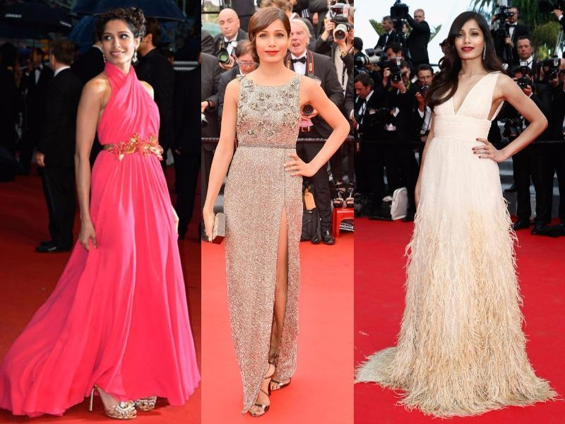 Slumdog Millionaire star Freida Pinto has always been a fashion force on the Cannes red carpet. (Agencies)