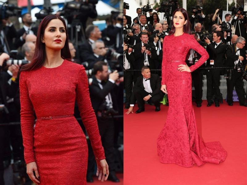 Frankly, Katrina's red locks caught more eyeballs than her monochrome and scarlet ensembles at the annual gala. (Agencies)