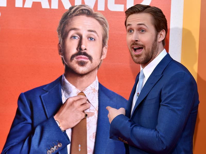 Ryan Gosling arrives at the Los Angeles premiere of The Nice Guys at TCL Chinese Theatre. (AP)