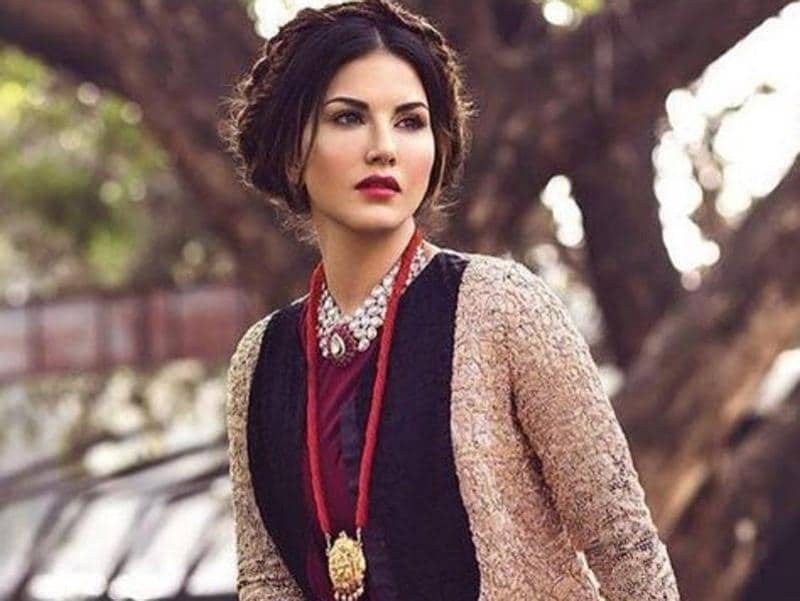 Sunny Leone during  a magazine cover shoot.