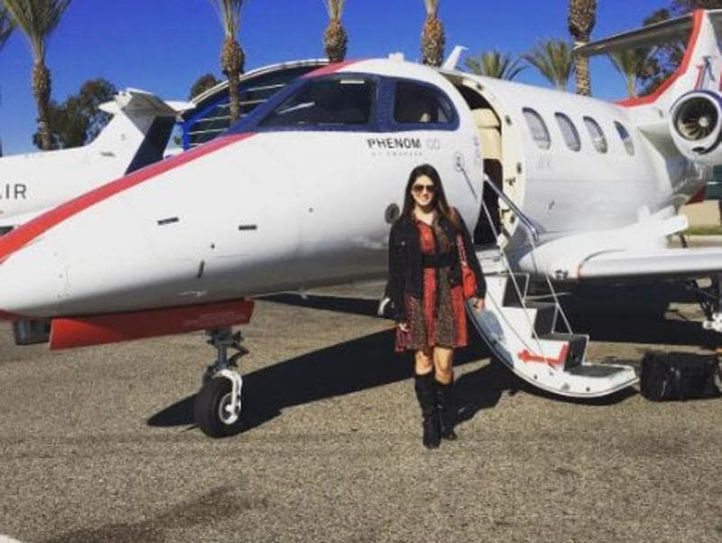 A private jet to Las Vegas! (Instagram)