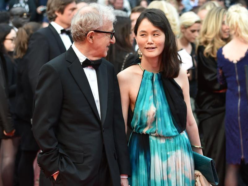 American director Woody Allen with his wife Soon-Yi Previn. (AFP)