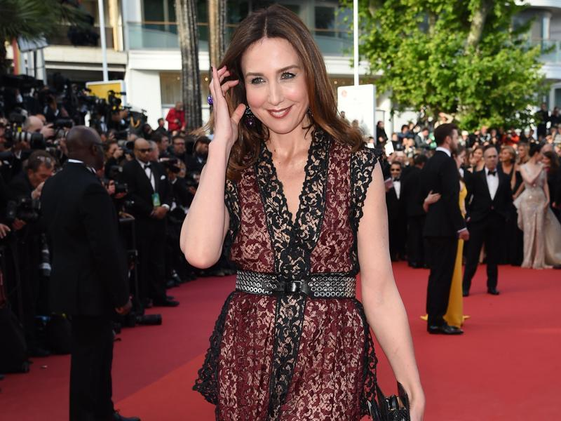French actor Elsa Zylberstein at the opening gala. Meanwhile, Indian actor Aishwarya Rai Bachchan, who will make her 15th Cannes appearance this year, will walk the red carpet on May 13 and 14. (AFP)