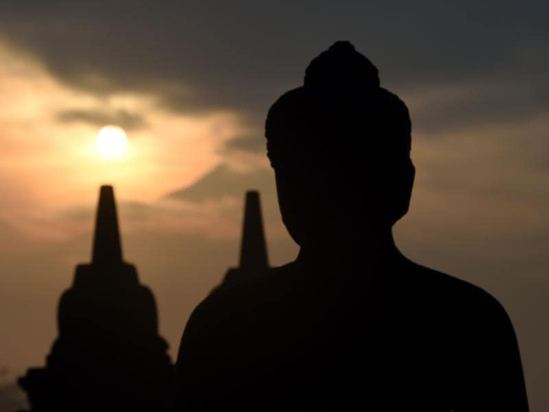 After remaining neglected for many centuries, it was Sir Thomas Stamford Raffles, the British ruler of Java, who brought it back to public knowledge in 1814. Borobudur is a UNESCO World Heritage Site today. (AFP)