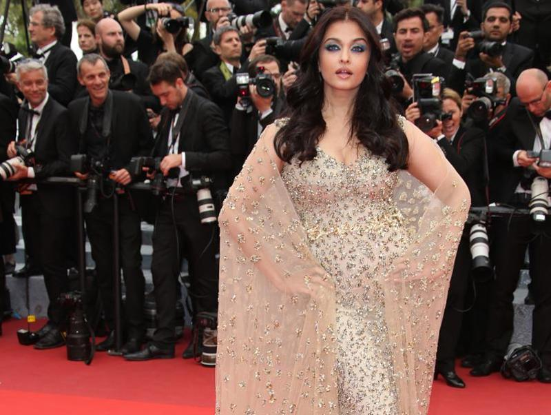 Actress Aishwarya Rai Bachchan poses for photographers upon arrival at the screening of the film Ma Loute (Slack Bay) at the 69th international film festival, Cannes on Friday. (AP)