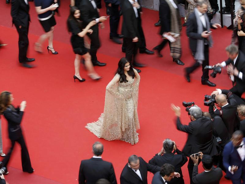Bollywood actress Aishwarya Rai Bachchan made her 15th appearance at the Cannes film festival this year. (REUTERS)