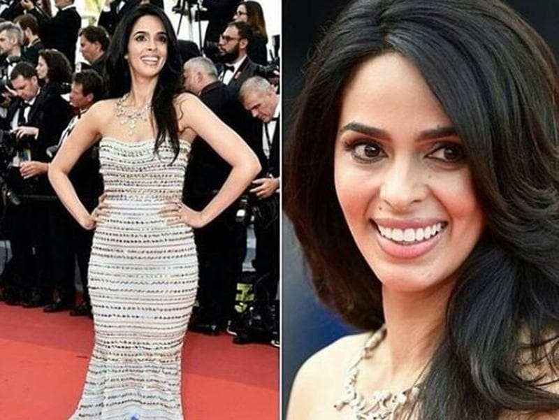 Cannes regular Mallika Sherawat was the first Bollywood actor to walk the red carpet at the festival's opening night on Wednesday. The actor was wearing a Gorges Hobeika gown and a diamond neckpiece from Mellerio.  (Instagram)