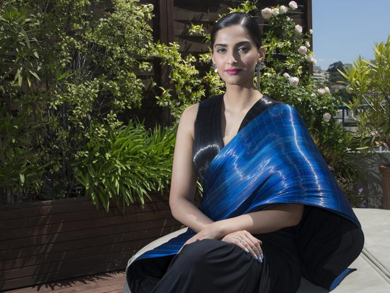 Sonam Kapoor before a press meet at the 69th international film festival, Cannes. (AP)