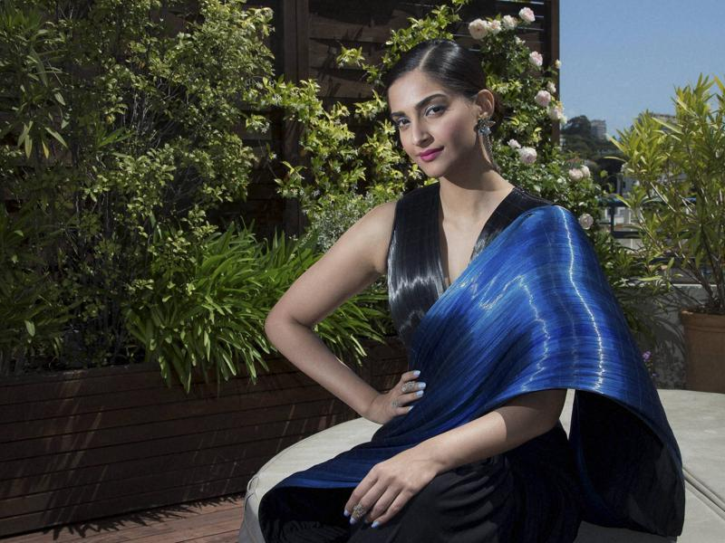 Sonam Kapoor poses for a portrait photograph at the 69th international film festival, Cannes. (AP)