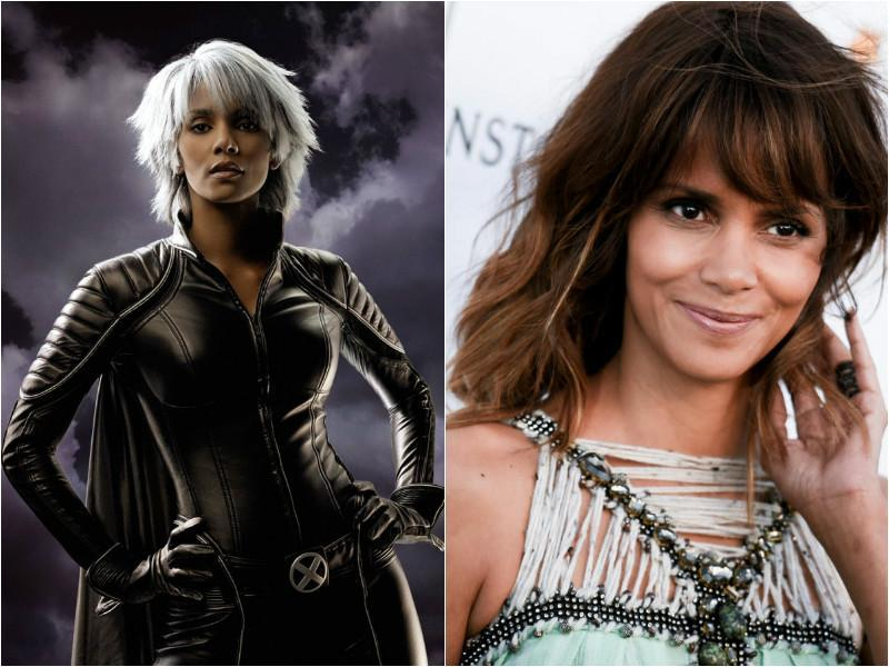 Halle Berry sported different style of white hair in the movies where she played Storm (Ororo Munroe). She had a small cameo in X-Men: Days of the Future Past as well. (Fox/AP)